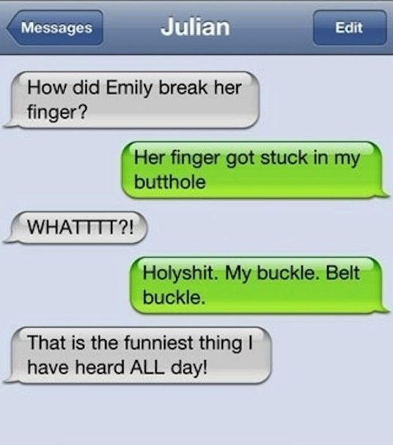 finger in butthole